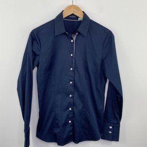 Van Laack Blue Long Sleeve Button Down Shirt 36